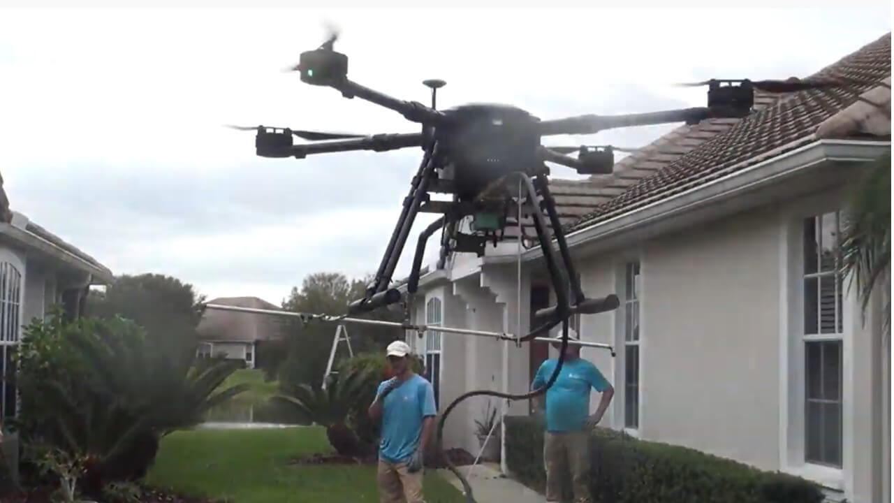 Drone Roof Cleaning Sarasota